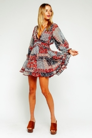 Olivaceous Patchwork Ruffle Dress - Product Mini Image