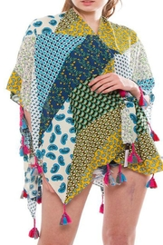 Patricia's Presents Patchwork Short Kimono - Front cropped