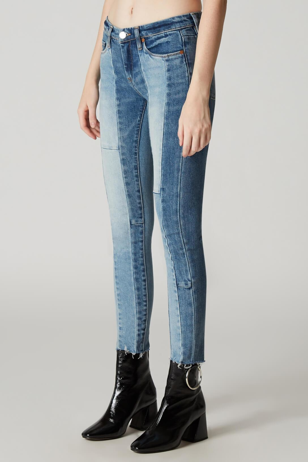 Blank NYC Patchwork Skinny Jean - Front Full Image