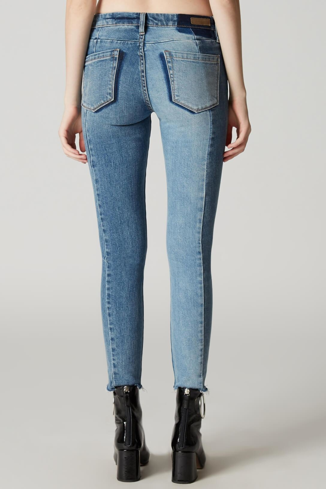 Blank NYC Patchwork Skinny Jean - Side Cropped Image