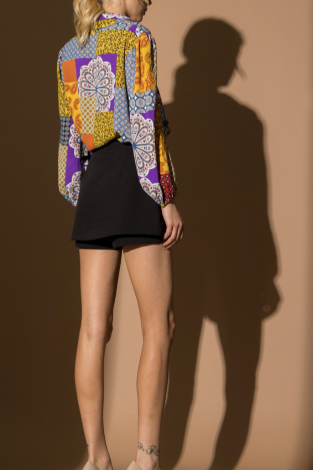 Lena Patchwork Top - Side Cropped Image