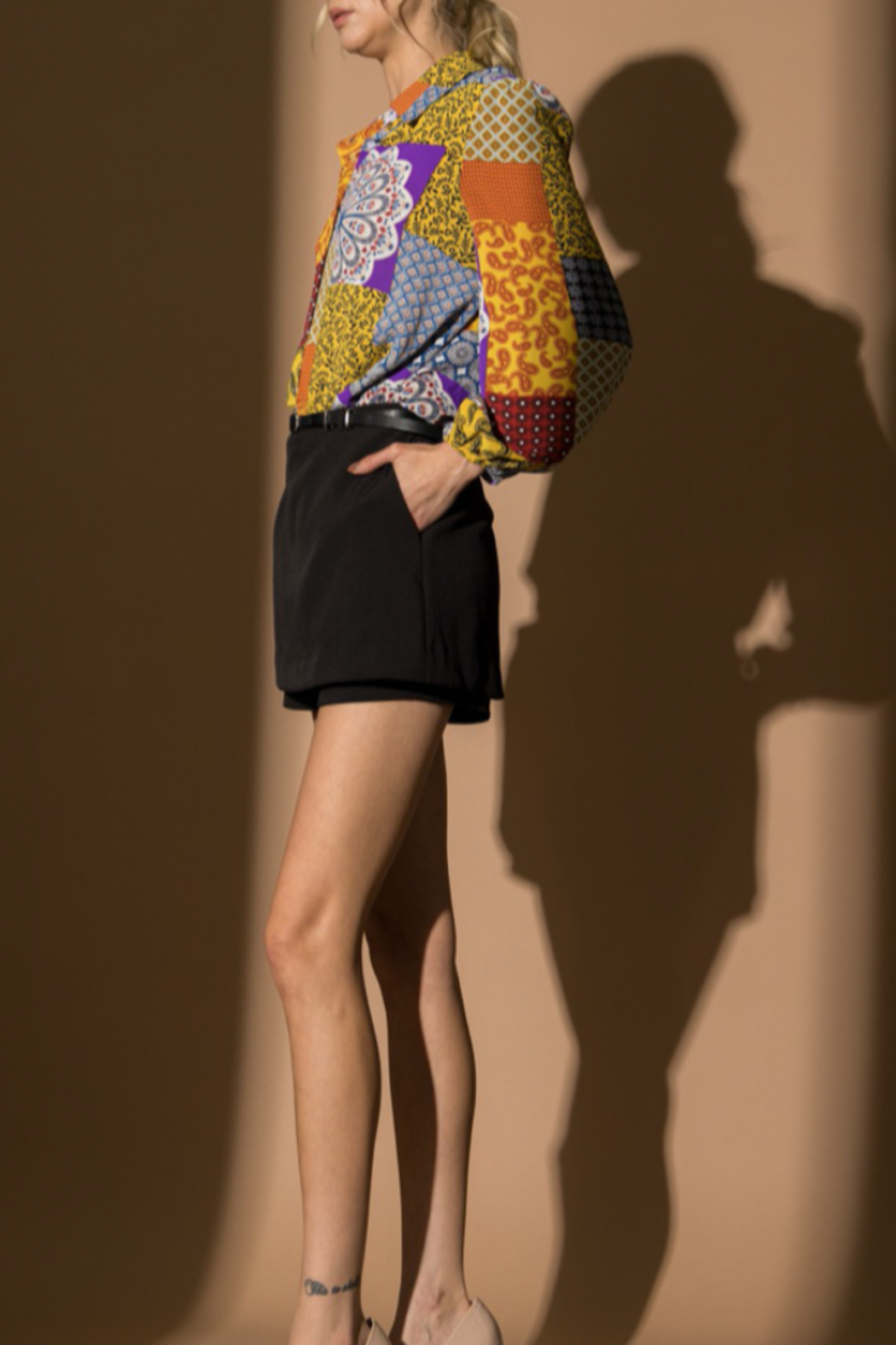 Lena Patchwork Top - Front Full Image