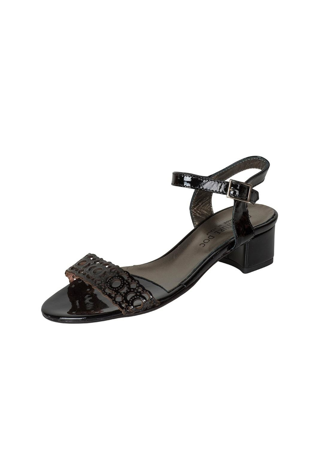 192aadfd391 Lady Doc Patent-Black Block-Heel Sandals from South Australia by ...