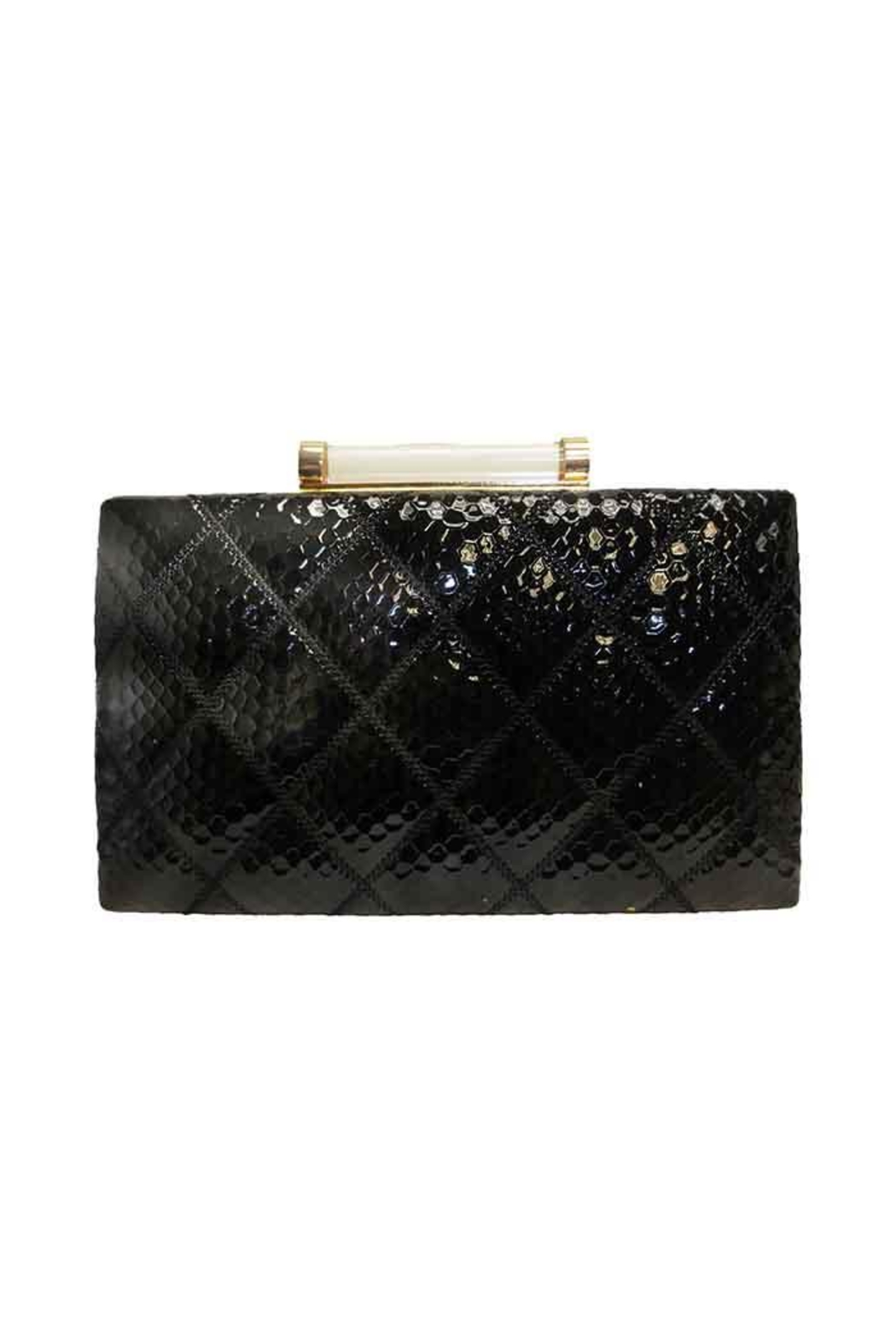 Sondra Roberts Patent Clutch - Front Cropped Image