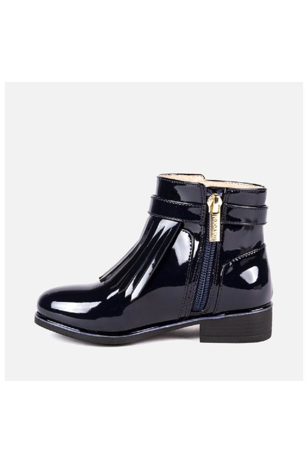 Mayoral Patent Fringe Bootie - Front Full Image