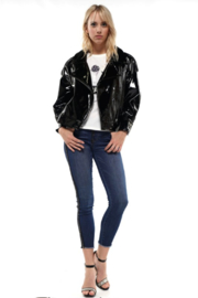 R+D emporium  Patent Leather Biker Jacket - Product Mini Image