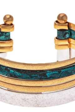 Rain Patina multi color metal cuff bracelet - Product List Image