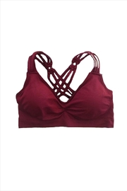 Patina Strappy Crisscross Bra - Front cropped