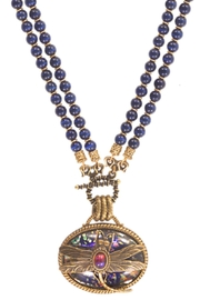 Patrice Dragonfly Oval Necklace - Front cropped