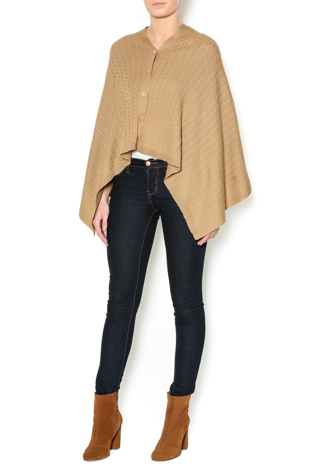 Patricia's Presents Camel Three Way Top - Front Full Image