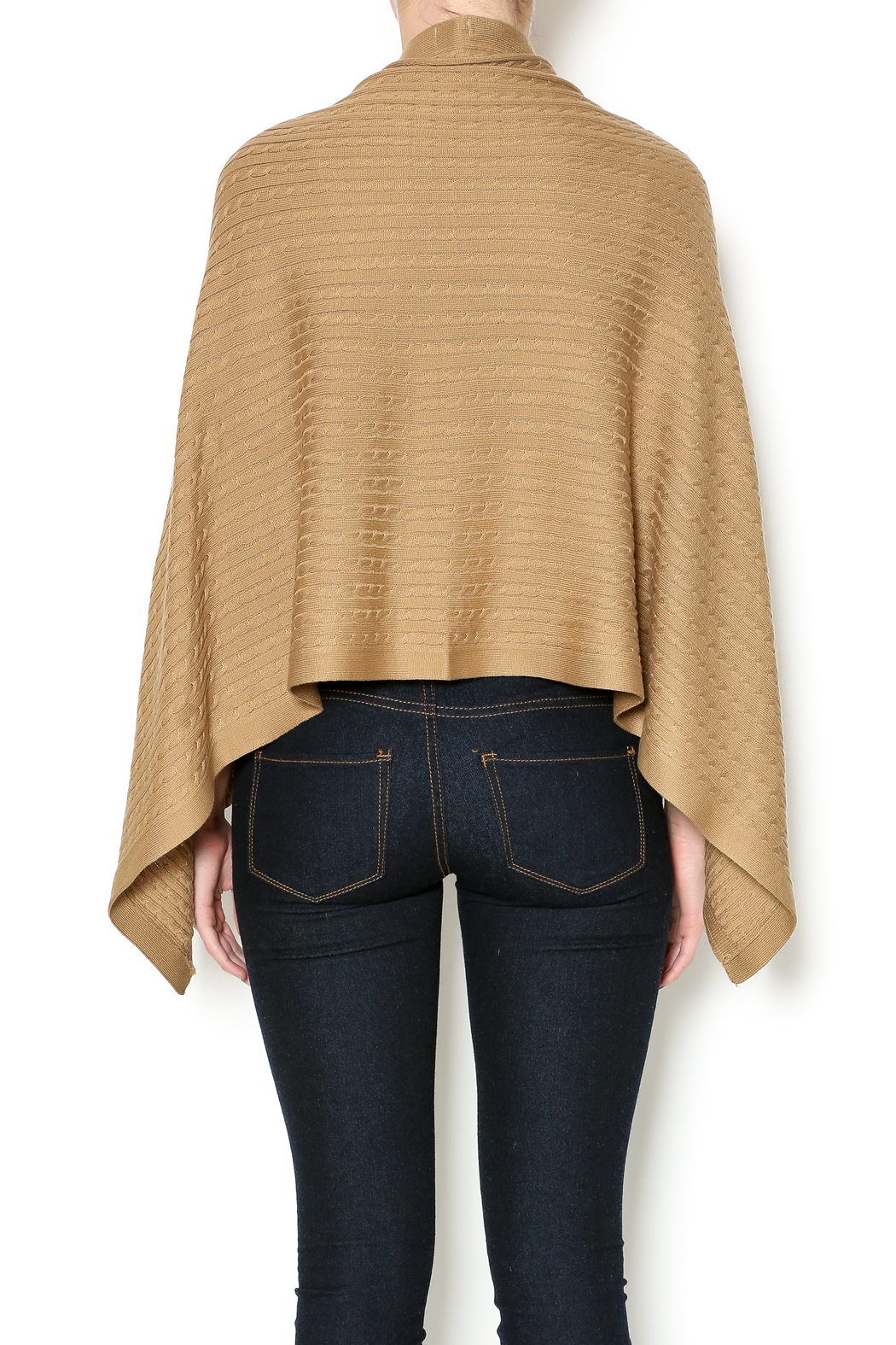 Patricia's Presents Camel Three Way Top - Back Cropped Image
