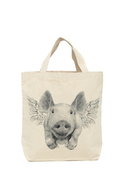 Patricia's Presents Flying Pig Tote Bag - Product Mini Image