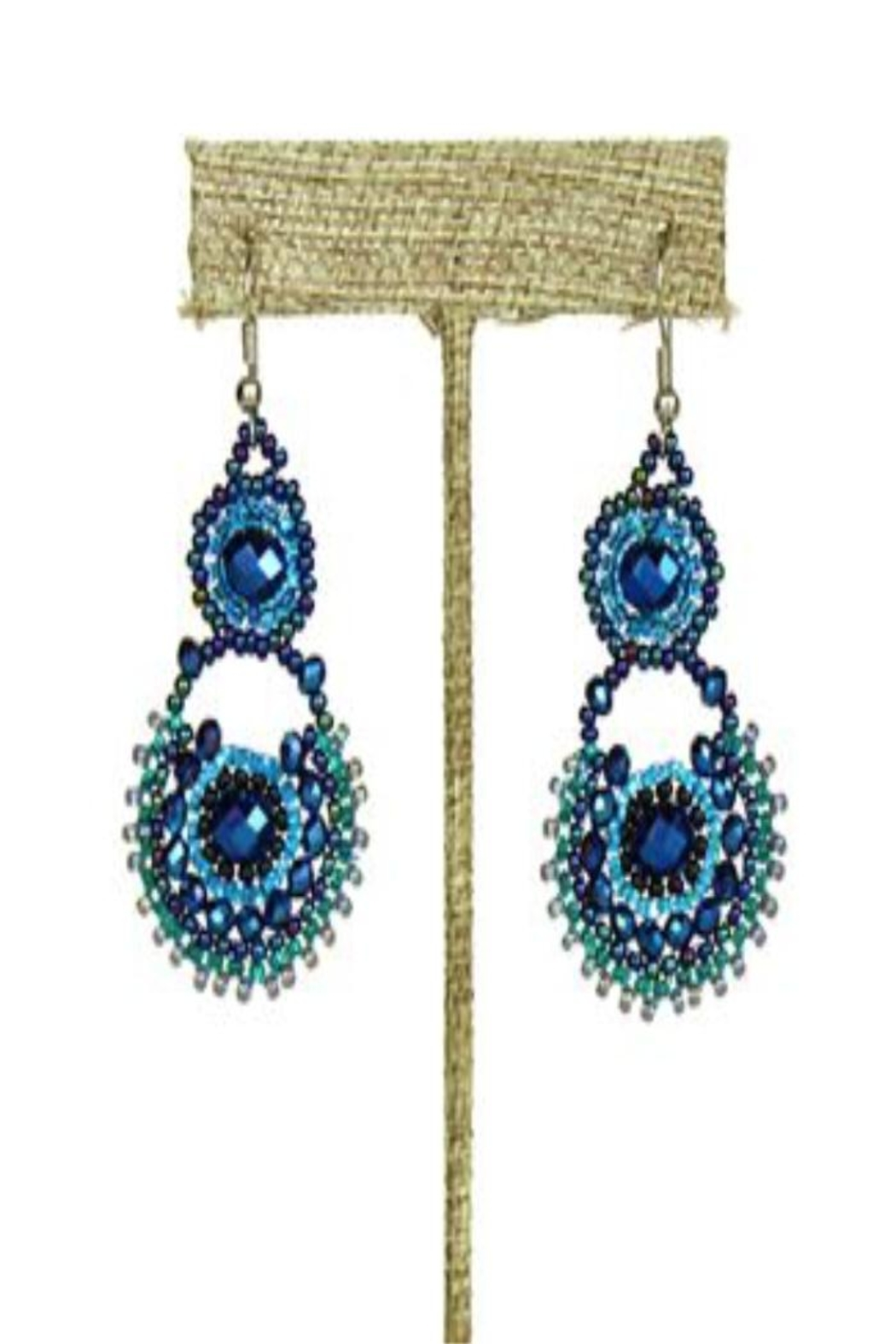 Patricia's Presents Beaded Blue Earrings - Main Image