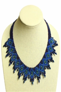 Patricia's Presents Beaded Blue Neckpiece - Product List Image