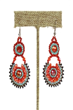Shoptiques Product: Beaded Colorful Earrings