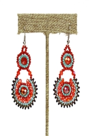 Patricia's Presents Beaded Colorful Earrings - Front cropped