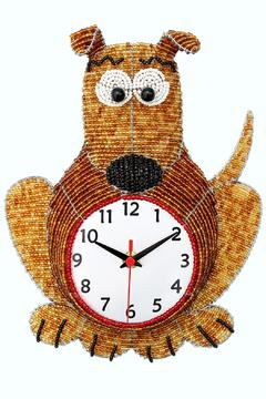 Patricia's Presents Beaded Dog  Clock - Alternate List Image