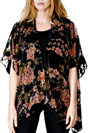 Patricia's Presents Black/blossom Burnout Jacket - Front cropped