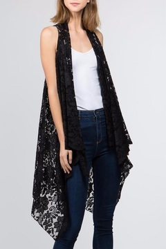 Patricia's Presents Black Lace Vest - Alternate List Image