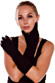 Patricia's Presents Black Touch Gloves - Product Mini Image