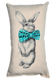 Patricia's Presents Bowtie Bunny Pillow - Front cropped