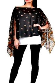 Patricia's Presents Butterfly Black Poncho - Product Mini Image