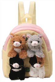 Patricia's Presents Cat Childrens Backpack - Front cropped