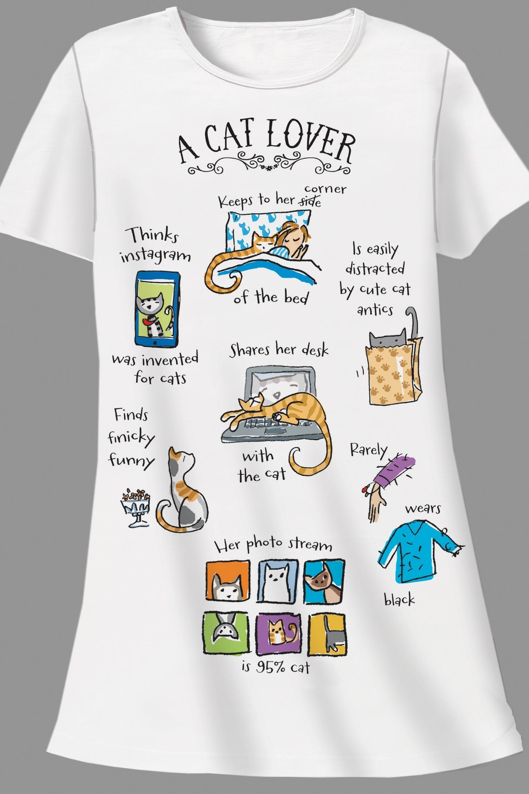 Patricia's Presents Cat Lover Sleepshirt - Main Image