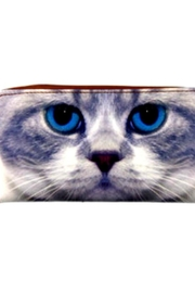 Patricia's Presents Cat Zipper Wallet - Front cropped