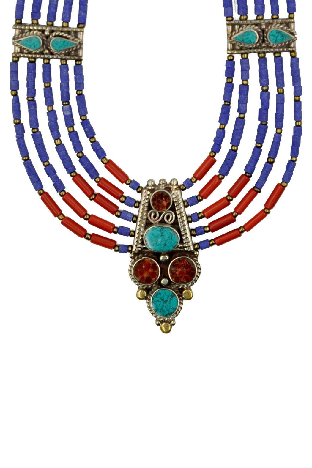Patricia's Presents Nepalese Neckpiece - Front Cropped Image