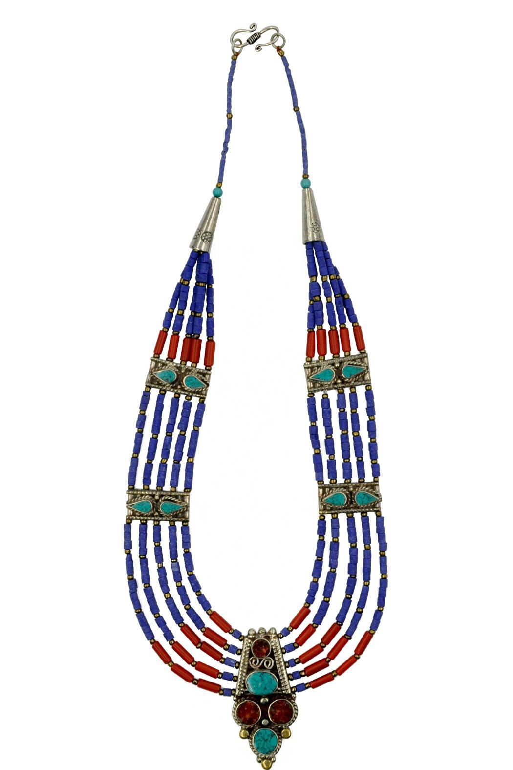Patricia's Presents Nepalese Neckpiece - Front Full Image