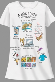 Patricia's Presents Dog Lover Sleepshirt - Front cropped