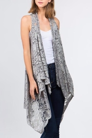 Patricia's Presents Grey Lace Vest - Product Mini Image