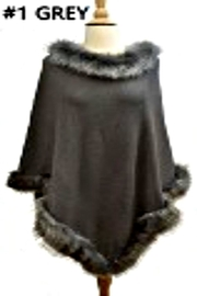 Patricia's Presents Grey Poncho - Product Mini Image