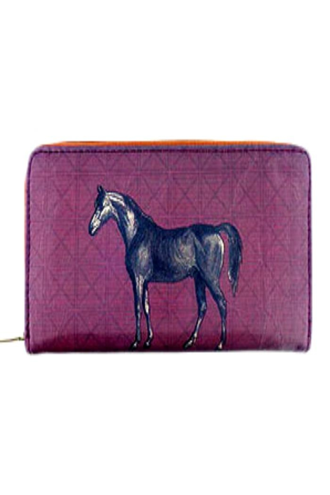 Patricia's Presents Horse Vegan Wallet - Front Cropped Image