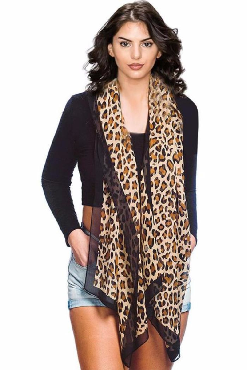 Patricia's Presents Leopard Long Scarf - Main Image