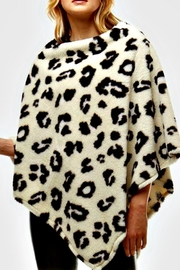 Patricia's Presents Leopard Poncho - Front cropped
