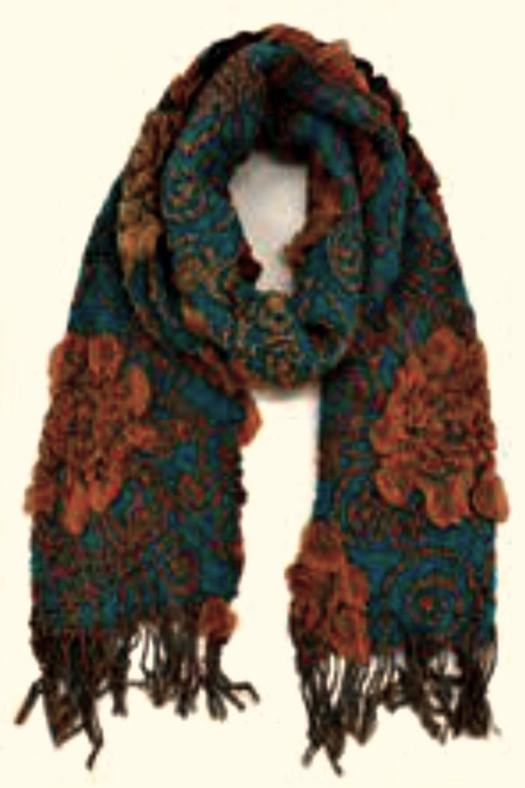 Patricia's Presents Long Teal Scarf - Main Image