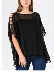 Patricia's Presents Open Shoulder Poncho - Front cropped