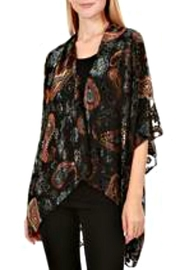 Patricia's Presents Paisley Burnout Kimomo - Front cropped