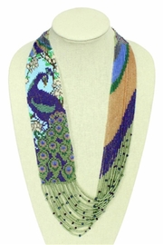 Patricia's Presents Peacock Neckpiece - Front cropped