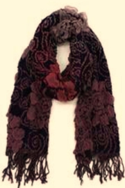 Patricia's Presents Purple Floral Scarf - Product Mini Image
