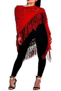 Shoptiques Product: Red Faux Shawl
