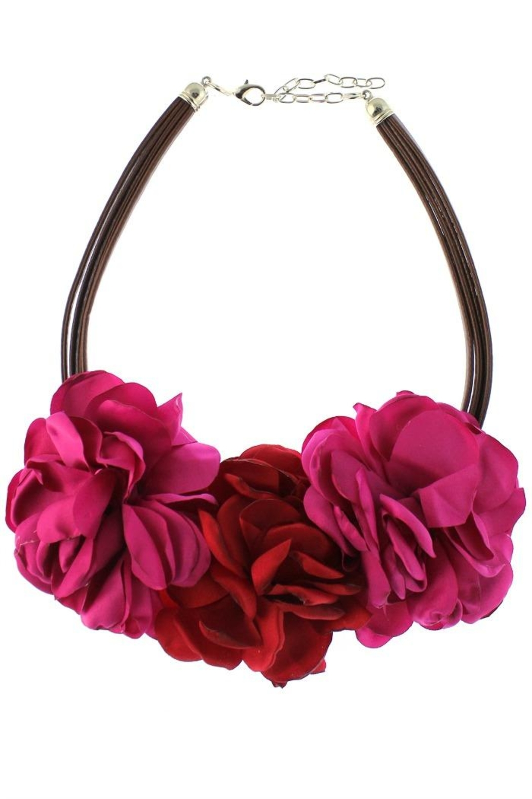 Patricia's Presents Red Floral Neckpiece - Main Image