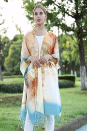 Patricia's Presents Soft Abstract Kimono - Front cropped