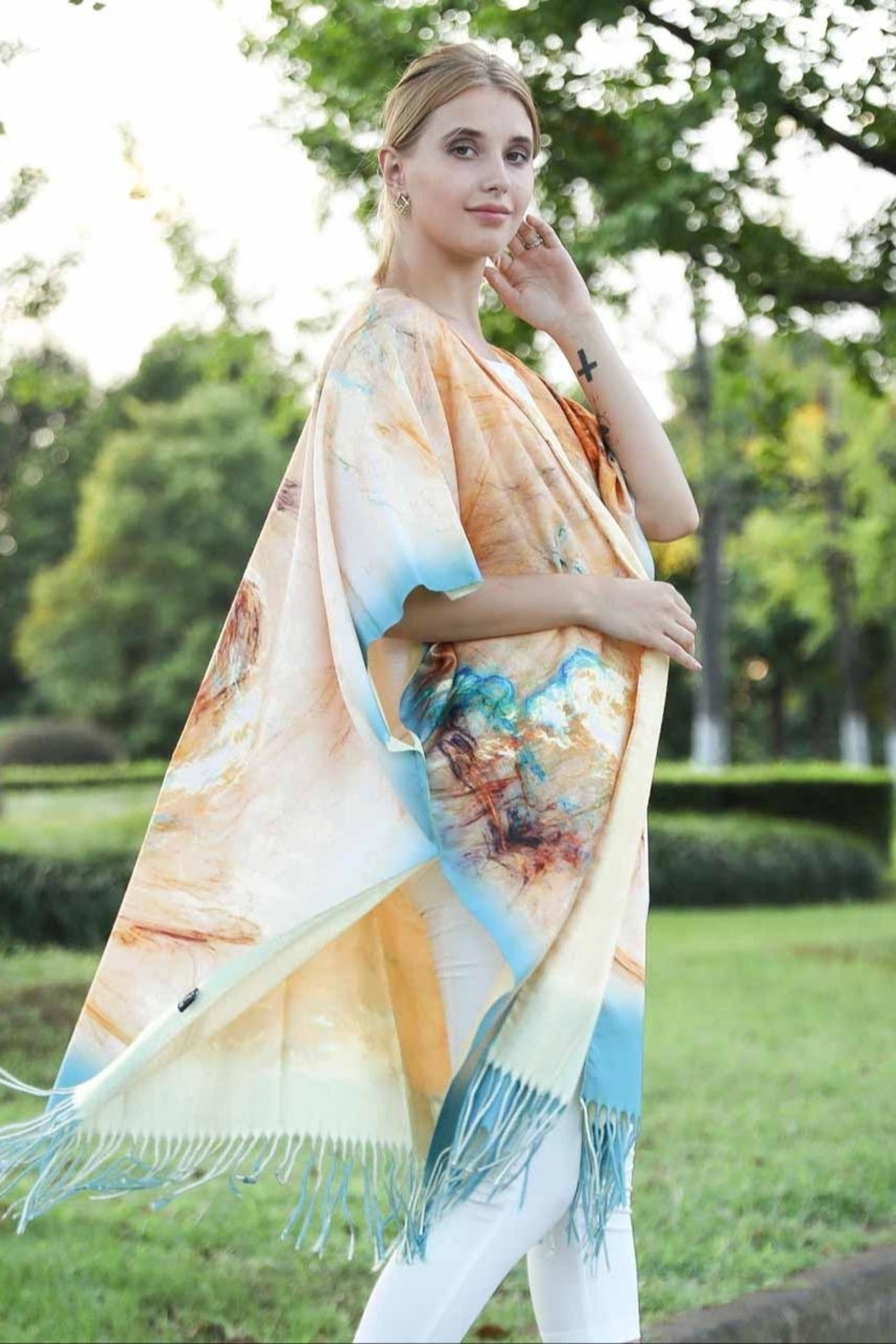 Patricia's Presents Soft Abstract Kimono - Front Full Image