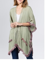 Patricia's Presents Tasseled And Fringed Kimono - Front cropped