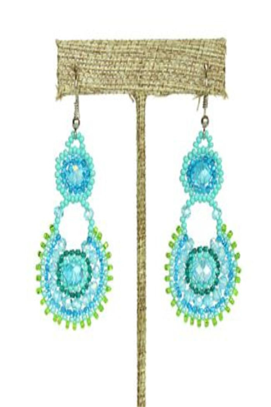 Patricia's Presents Turquoise Beaded Earrings - Main Image