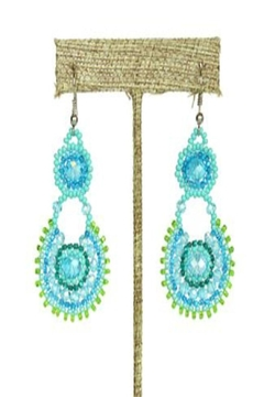 Patricia's Presents Turquoise Beaded Earrings - Alternate List Image