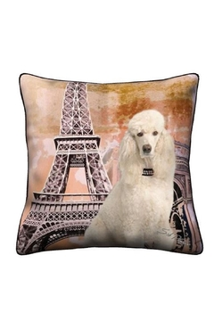 Patricia's Presents White Poodle Pillow - Alternate List Image